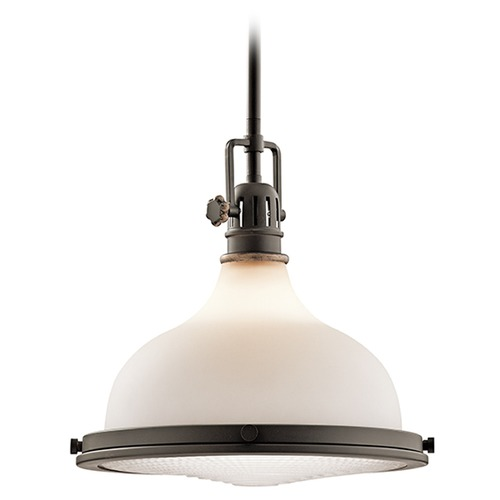 Kichler Lighting Kichler Lighting Hatteras Bay Pendant Light with Bowl / Dome Shade 43766OZ
