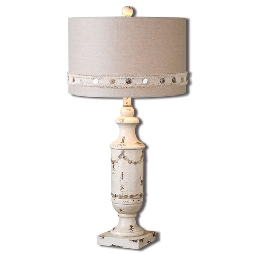 Uttermost Lighting Uttermost Lacedonia Distressed Ivory Lamp 26198-1