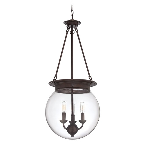Savoy House Savoy House Oiled Burnished Bronze Pendant Light with Globe Shade 7-3301-3-28
