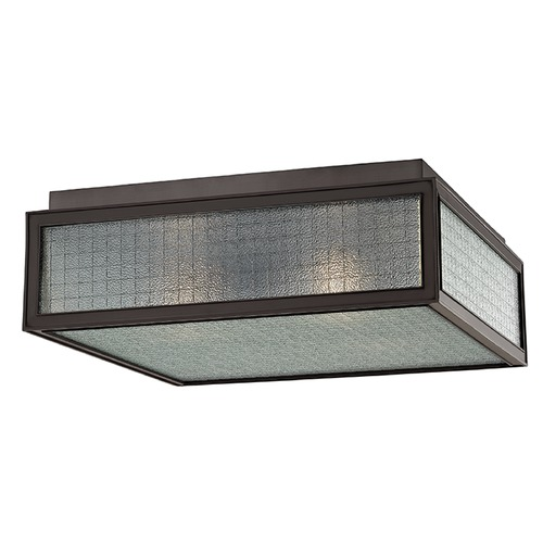 Hudson Valley Lighting Freemont 3 Light Flushmount Light Square Shade - Old Bronze 5614-OB