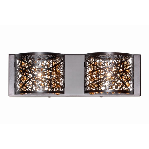 ET2 Lighting Inca 2-Light Wall Mount W/LED Bulb E21315-10BZ/BUL