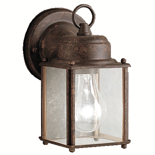 Kichler Lighting Kichler Outdoor Wall Light with Clear Glass in Tannery Bronze Finish 9611TZ