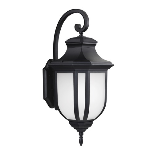 Sea Gull Lighting Sea Gull Childress Black Outdoor Wall Light 8836302-12