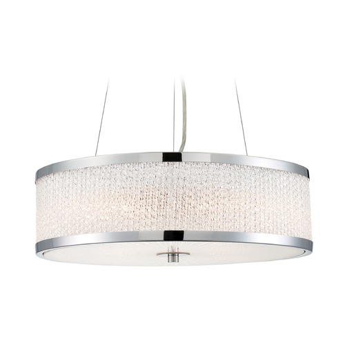 Lite Source Lighting Lite Source Gianetta Chrome Pendant Light LS-18575