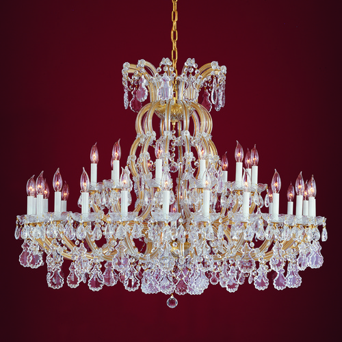 Crystorama Lighting Crystorama Lighting Hot Deal Gold Crystal Chandelier 4308-GD-CL-SAQ
