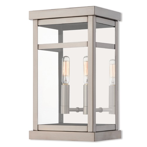Livex Lighting Livex Lighting Hopewell Brushed Nickel Outdoor Wall Light 20702-91
