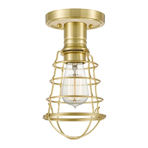 Quoizel Lighting Quoizel Lighting Caged Satin Brass Semi-Flushmount Light QF5118Y