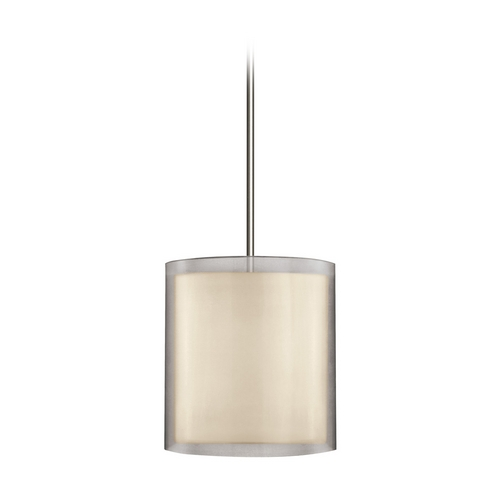 Sonneman Lighting Modern Pendant Light with Silver Shades in Satin Nickel Finish 6019.13
