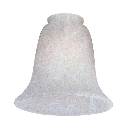Monte Carlo Fans White Bell Glass Shade - 2-1/4-Inch Fitter Opening G990