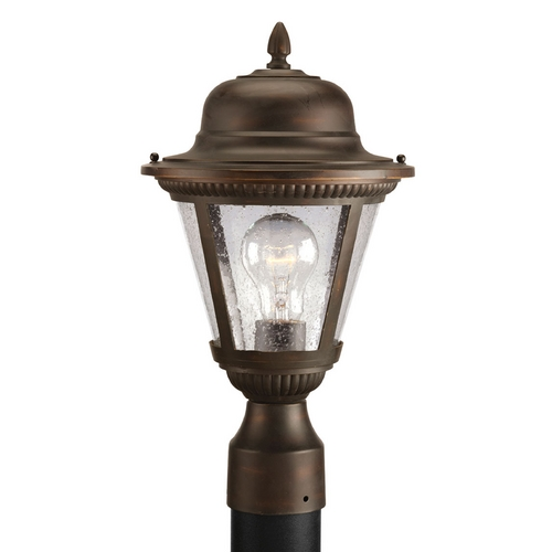 Progress Lighting Progress Post Light with Clear Glass in Antique Bronze Finish P5445-20
