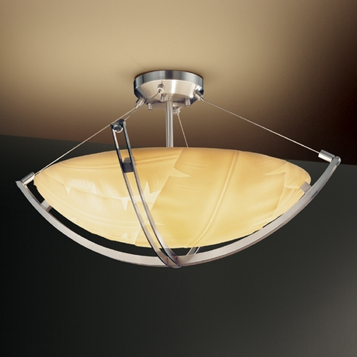 Justice Design Group Justice Design Group Porcelina Collection Semi-Flushmount Light PNA-9711-35-BANL-NCKL