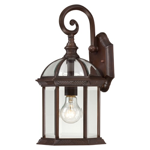 Nuvo Lighting Outdoor Wall Light with Clear Glass in Rustic Bronze Finish 60/4962