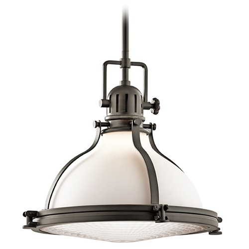 Kichler Lighting Kichler Lighting Hatteras Bay Pendant Light with Bowl / Dome Shade 43767OZ