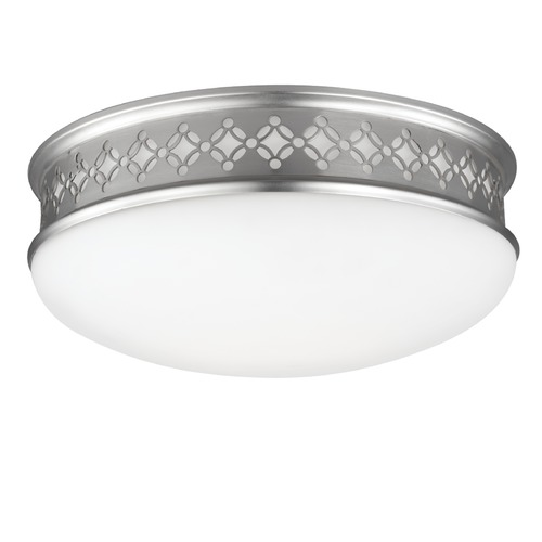 Feiss Lighting Feiss Lighting Devonshire Satin Nickel Flushmount Light FM422SN