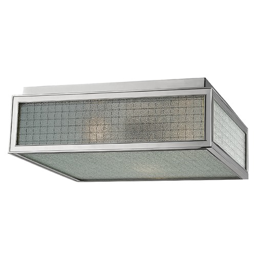 Hudson Valley Lighting Freemont 3 Light Flushmount Light Square Shade - Polished Nickel 5614-PN