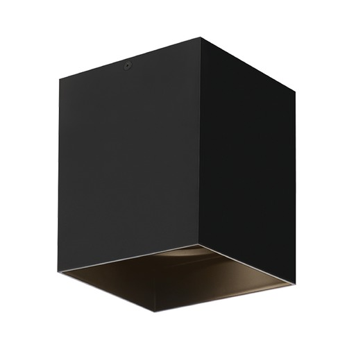 Tech Lighting Black LED Flushmount Ceiling Light by Tech Lighting 700FMEXO620BB-LED935