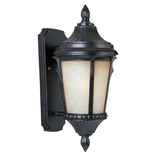 Maxim Lighting Outdoor Wall Light with Beige / Cream Glass in Espresso Finish 3013LTES
