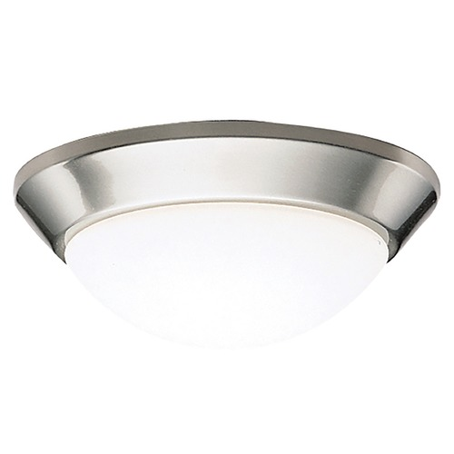 Kichler Lighting Kichler Modern Brushed Nickel Flushmount Light with White Glass 8880NI