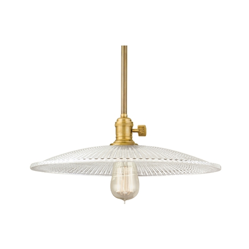 Hudson Valley Lighting Pendant Light with Clear Glass in Aged Brass Finish 9001-AGB-GL4