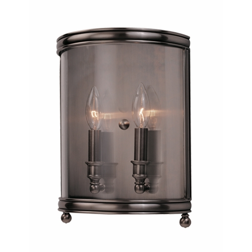 Hudson Valley Lighting Sconce Wall Light with Clear Glass in Aged Brass Finish 7802-AGB