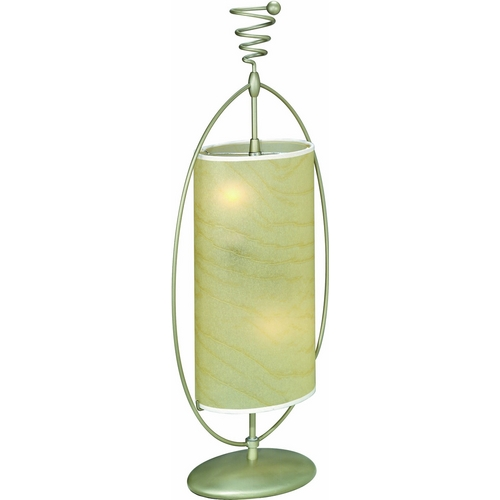 Lite Source Lighting Lite Source Lighting Curly Table Lamp with Cylindrical Shade LS-3786SILV