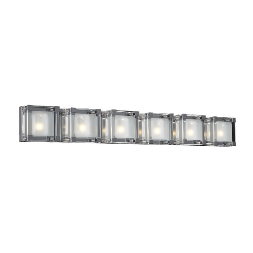 PLC Lighting Modern Bathroom Light with Clear Glass in Polished Chrome Finish 18146 PC