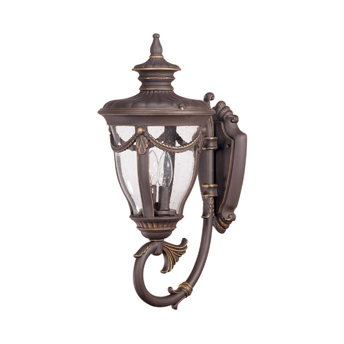 Nuvo Lighting Outdoor Wall Light with Clear Glass in Belgium Bronze Finish 60/2043