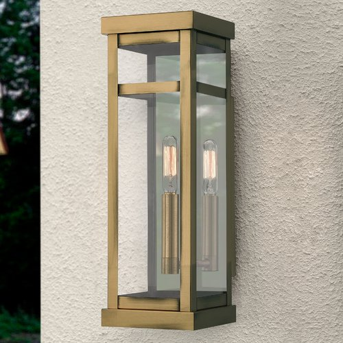 Livex Lighting Livex Lighting Hopewell Antique Brass Outdoor Wall Light 20703-01