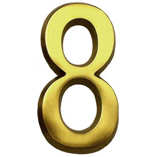Satin Brass Four Inch House Number Gm Cb8