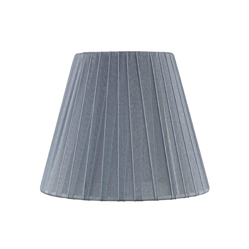 Design Classics Lighting Clip-On Empire Pleated Opaque Slate Lamp Shade SH9609