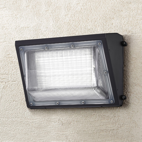 Recesso Lighting by Dolan Designs LED Wall Pack Bronze 45-Watt 120v-277v 4600 Lumens 5000K 110 Degree Beam Spread WP01-45W-50-BZ