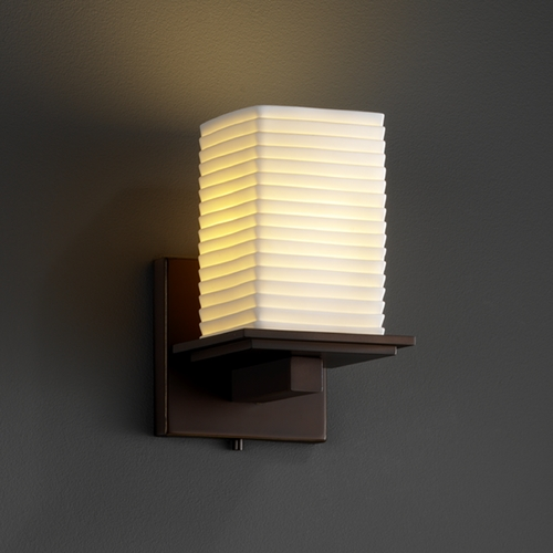 Justice Design Group Justice Design Group Limoges Collection Sconce POR-8671-15-SAWT-DBRZ