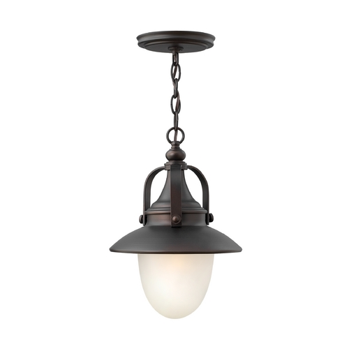 Hinkley Lighting LED Outdoor Hanging Light with White Glass in Spanish Bronze Finish 2082SB-LED
