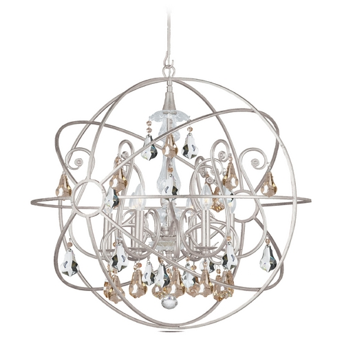 Crystorama Lighting Pendant Light in Olde Silver Finish 9028-OS-GS-MWP