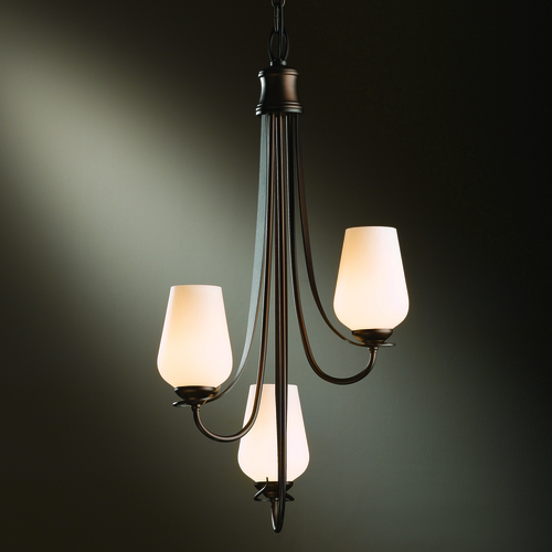 Hubbardton Forge Lighting Hubbardton Forge Lighting Flora Bronze Mini-Chandelier 103033-05-ZX303