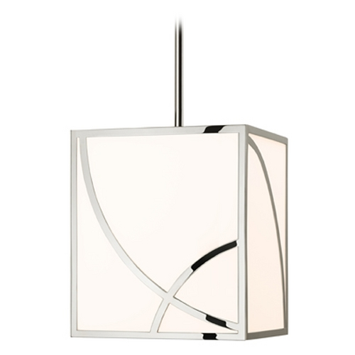 Sonneman Lighting Sonneman Haiku Satin Nickel LED Pendant Light with Square Shade 2535.13