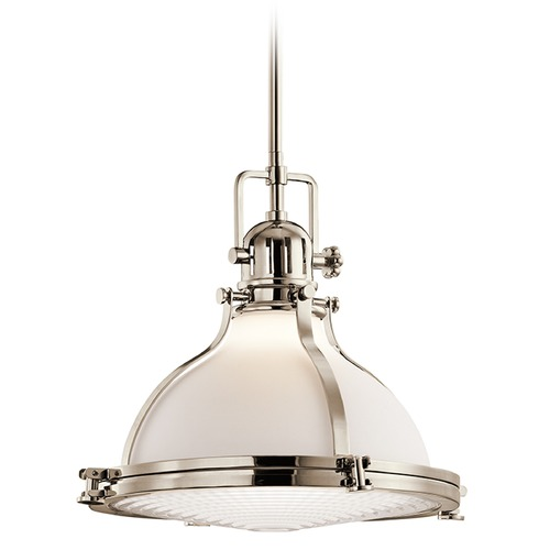 Kichler Lighting Kichler Lighting Hatteras Bay Pendant Light with Bowl / Dome Shade 43767PN