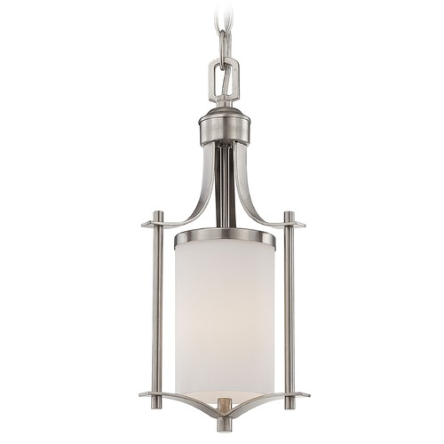 Savoy House Savoy House Satin Nickel Mini-Pendant Light with Cylindrical Shade 7-336-1-SN