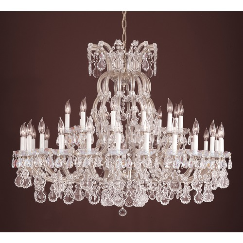 Crystorama Lighting Crystorama Lighting Hot Deal Silver Crystal Chandelier 4308-SAQ-SILVER