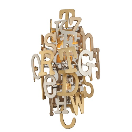 Corbett Lighting Corbett Lighting Media Polished Stainless with Multi-Leaf Sconce 208-12