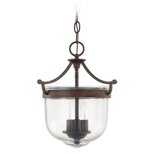 Capital Lighting Capital Lighting Covington Burnished Bronze Pendant Light with Bowl / Dome Shade 9411BB