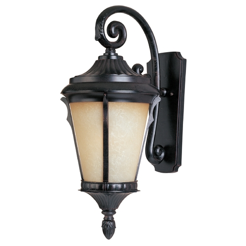 Maxim Lighting Outdoor Wall Light with Beige / Cream Glass in Espresso Finish 3014LTES