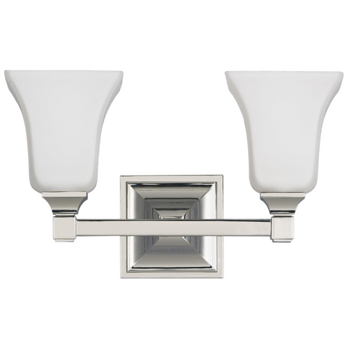 Feiss Lighting Modern Bathroom Light with Beige / Cream Glass in Polished Nickel Finish VS12402-PN