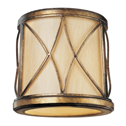 Minka Lavery Gold Cylindrical Lamp Shade with Uno Assembly SH1962