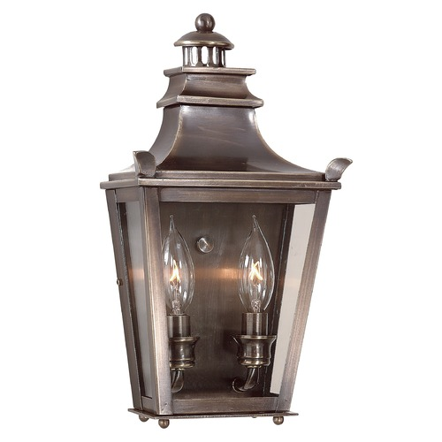 Troy Lighting Outdoor Wall Light with Clear Glass in English Bronze Finish B9492EB