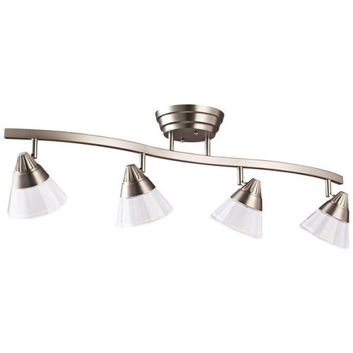 Kichler Lighting Kichler Brushed Nickel LED Directional Spot Light with White Glass 10325NI