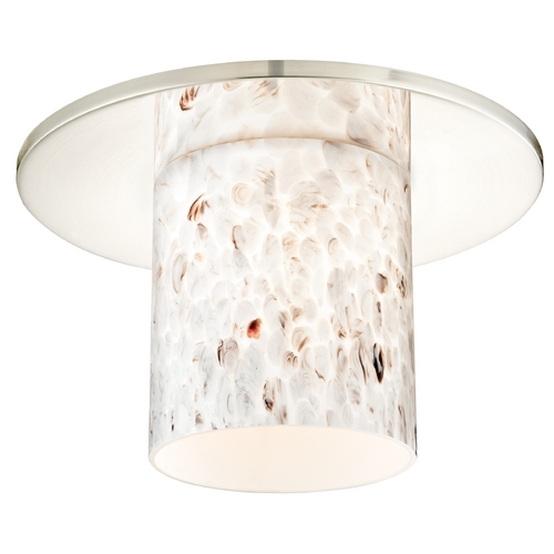 Recesso Lighting by Dolan Designs Decorative Recessed Ceiling Trim with Art Glass Cylinder Shade 10536-26-GL1025