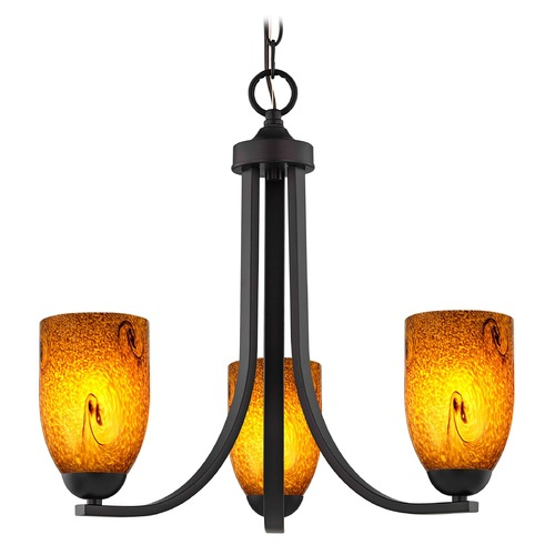 Design Classics Lighting Design Classics Dalton Fuse Neuvelle Bronze Mini-Chandelier 5843-220 GL1001D
