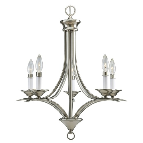 Progress Lighting Progress Chandelier in Brushed Nickel Finish P4327-09