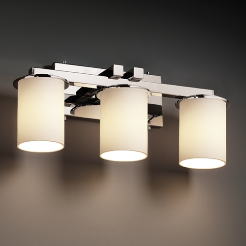 Justice Design Group Justice Design Group Fusion Collection Bathroom Light FSN-8773-10-OPAL-CROM